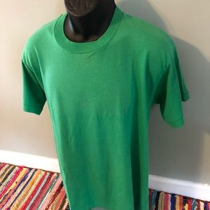 80s Screen Stars Best Tee Shirt Green XL Made USA